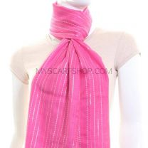 Hot Pink Striped Pashmina