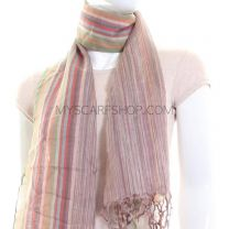 Multicolour Stripes Lightweight Pashmina