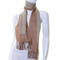 Desert Sand Stripes Wool Mix Winter Scarf