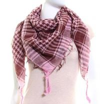 Pink & Brown Arab Scarf (Shemagh)