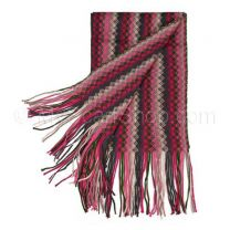 Pink Zig Zag Knitted Scarf
