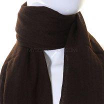 Plain Wool Pashmina (Dark Brown)