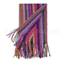 Purple Zig Zag Knitted Scarf
