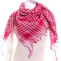 Red & Pink Arab Scarf (Shemagh)