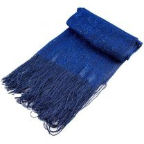 Wide Royal Blue Glitter Lurex Shawl