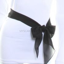 3 in 1 Chiffon Sash Scarf (Black)