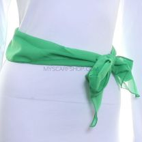 3 in 1 Chiffon Sash Scarf Green