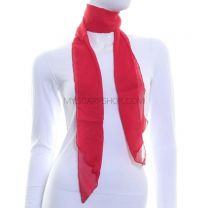3 in 1 Chiffon Sash Scarf (Red)