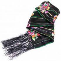 Satin Feel Floral Silk Neck Scarf