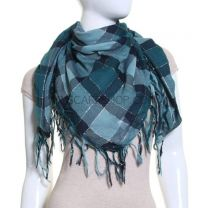 Lurex Check Scarf
