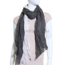 Black & White Mini Polka Dot Crinkle Pashmina