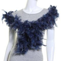 Navy Feather Boa