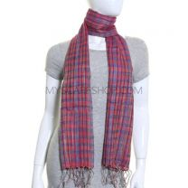Red Check Handloom Scarf
