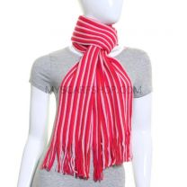 Pink Stripe Winter Scarf