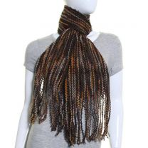 Brown Multi Stripe Winter Scarf