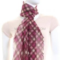 Purple Check Glitter Neck Scarf