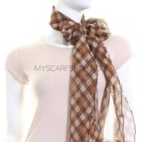 Gold Check Glitter Neck Scarf