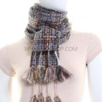 Grey Tweed Neck Scarf (Reversible)