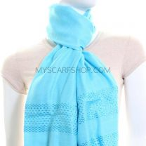 Turquoise Threaded Shawl