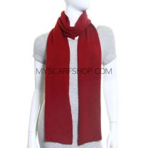 Deep Red Wool Scarf