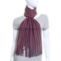 Purple Assorted Stripes Winter Scarf