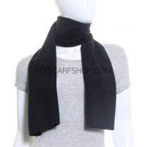Black Polar Fleece Scarf