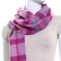 Lambswool Scarf (Pink Tartan)
