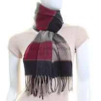Cashmere Scarf Grey Check