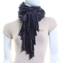 Knitted Web Scarf (Navy)