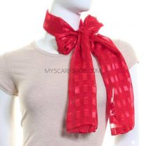 Red Chiffon Scarf