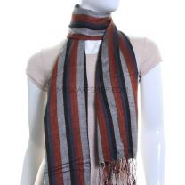 Diamond Jacquard Pashmina (Grey Stripes)