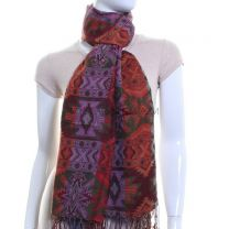 Aztec Jacquard Pashmina (Orange Multi Colour)