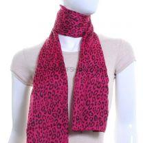 Fuchsia Leopard Print Lightweight Pashmina