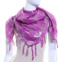 Checked Lurex Scarf (Purple)