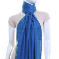 Steel Blue Plain Pashmina