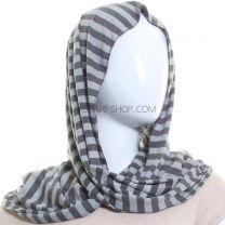 Lightweight Stripped Snood (Grey)