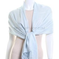 Pale Blue Plain Pashmina