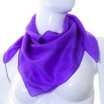 Purple Chakra Healing Square Silk Scarf