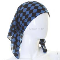 Blue Checkered Bandana