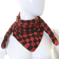 Red & Black Checkered Cotton Bandana