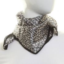 Leopard Print Silk Neckerchief