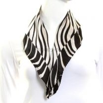 Zebra Print Silk Neckerchief