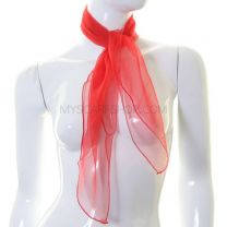 Red Sheer Square Scarf