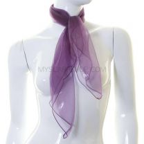 Purple Sheer Square Scarf