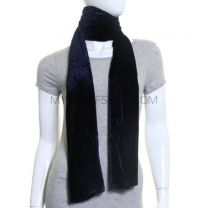 Black Plain Velvet Scarf