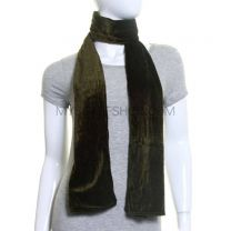 Green Plain Velvet Scarf