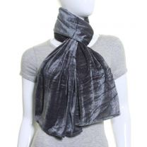Grey Plain Velvet Scarf