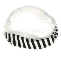 White Stripes Cotton Headwrap
