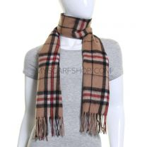 Lambswool Scarf in Camel Thomson