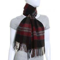 Black Tartan Wool & Cashmere Blend Scarf
